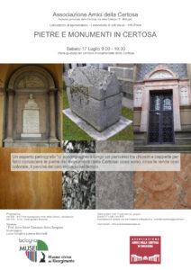 Associazione Amici della Certosa, Laboratorio di spolveratura - Pietre e Monumenti in Certosa